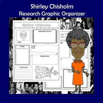 Shirley Chisholm Biography Research Graphic Organizer