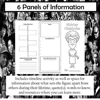 Shirley Chisholm Biography Trifold Brochure