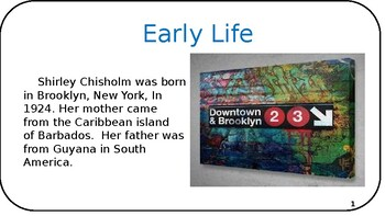Shirley Chisholm Powerpoint/Book