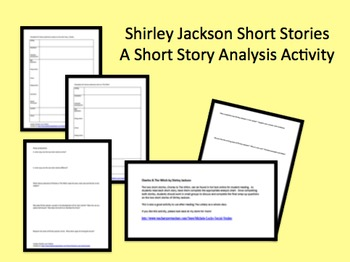 Shirley Jackson Short Story Analysis Activity Charles The Witch