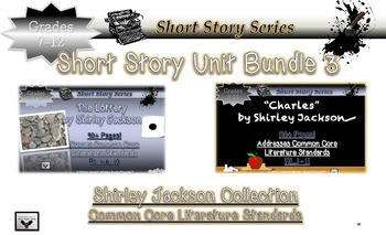 Shirley Jackson Short Story Bundle The Lottery and Charles