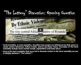 """Shirley Jackson's """"The Lottery"""": Pre-reading, during reading, and post reading"""