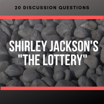 shirley jackson 39 s the lottery discussion questions by relentless innovation. Black Bedroom Furniture Sets. Home Design Ideas