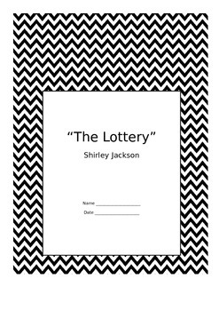 """Shirley Jackson's """"The Lottery"""" Short Story Unit REVISED w"""
