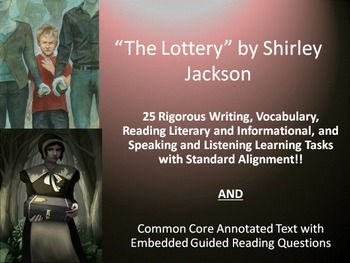 """Shirley Jackson's """"The Lottery""""–25 Rigorous Tasks AND Guid"""