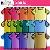 Rainbow Shirt Clip Art {Glitter T-Shirts, Clothing for Digital Scrapbooking}