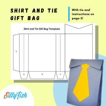 Shirt and Tie Gift Bag Template and Instructions