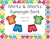 Shirts and Shorts Synonyms Sort
