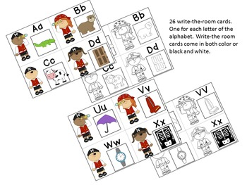Talk Like a Pirate Day!  {A Pirate Themed Alphabet Write-the-Room Activity}