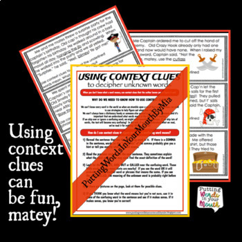 Context Clues Activity using Pirate Talk!