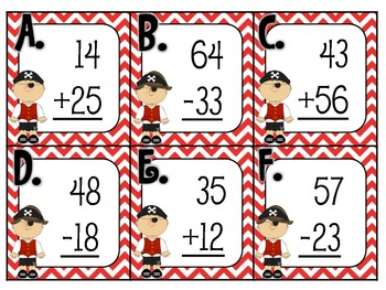 Shiver Me Timbers Addition and Subtraction Scoot