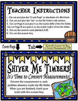 Shiver Me Timbers!  It's Time to Convert Measurements (TEKS 4.8B)