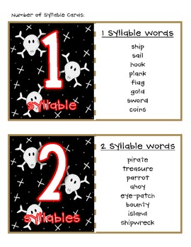 Shiver Me Timbers Pirate Syllable Sort