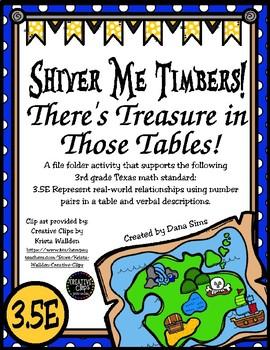 Shiver Me Timbers! There's Treasure in Those Tables! (TEKS 3.5E) STAAR Practice