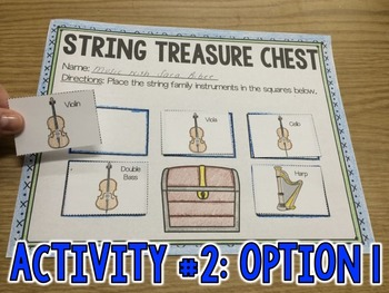 Treasure Adventures! Instrument Sorting Activity