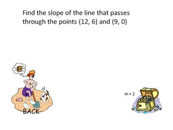Shiver me timbers, Calculate the slope powerpoint game