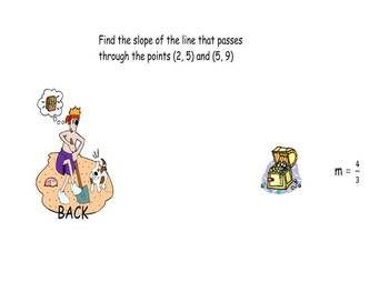 Shiver me timbers, Find the Slope smartboard game
