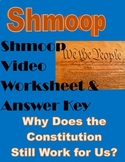 Why Does the Constitution Still Work for Us? Shmoop -Video Worksheet- Civics