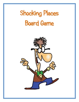 Shocking Places Board Game (Coverting Fractions Decimals and Percents)