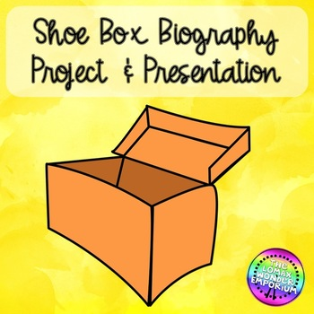 EDITABLE Shoe Box Biography Project & Presentation (Think Outside the Box)