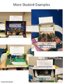 Shoe Box Book Report Diorama- Narrative Fiction Fun Project!
