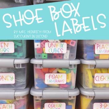 Shoe Box Labels