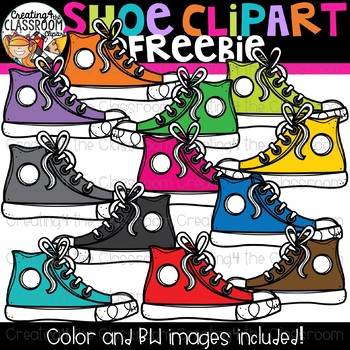 Shoe Clipart Freebie {Creating4 the Classroom}