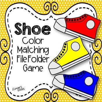 Shoe Color Matching File Folder Game