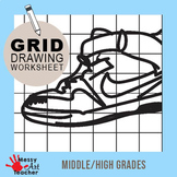 Shoe Grid Drawing Worksheet for Middle/High School