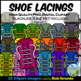 Sneakers Clip Art (Lacings) for Personal and Commercial Use