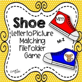 Shoe Letter to Initial Sound File Folder Game M-Z