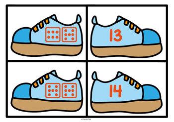 Addition Game - Shoe Match Math Center Activity