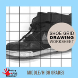 Shoe Photograph Grid Drawing for Middle/High School