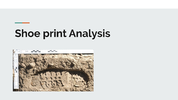 Shoe Print Analysis Powerpoint