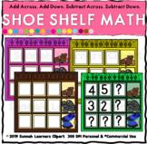 Shoe Shelf Math Clipart