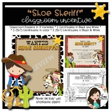 Shoe Sheriff Classroom (Shoe Tying) Incentive