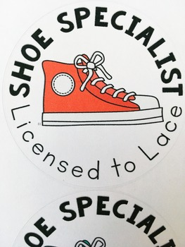 Shoe Specialist Badges: A FREE Shoe-Tying Solution!