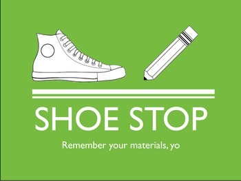 Shoe Stop Sign