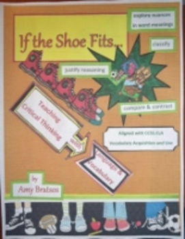 Shoe Theme Vocabulary Building, Comprehension Strategies,