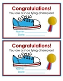 Shoe Tying Certificate (English / Spanish)