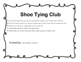 Shoe Tying Club Certificate Award