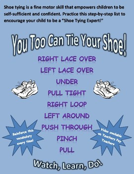 Shoe Tying Guide for Parents