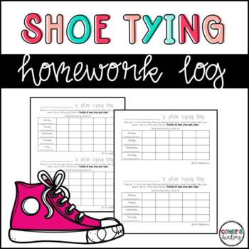 Shoe Tying Homework Log