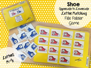Shoe Uppercase to Lowercase Letter Matching File Folder Game M-Z