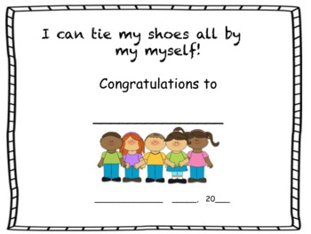 Shoe tying certificate