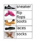 Shoe vocabulary cards