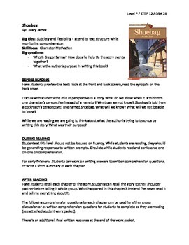 Shoebag Guided Reading Lesson Plan + Student Work Packet -