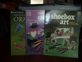 Shoebox Art, Container Crafts, Origami   (Set of 3)