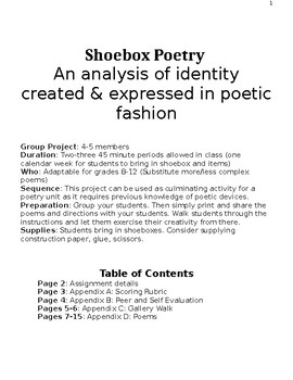 Shoebox Poetry