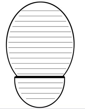 Shoeprint Writing Template